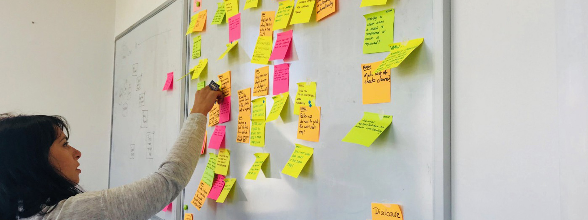 Design sprint post-it board