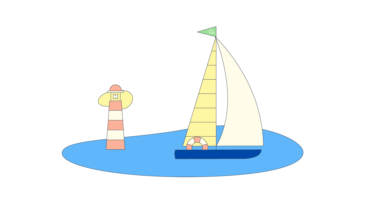 Illustration of a sailboat